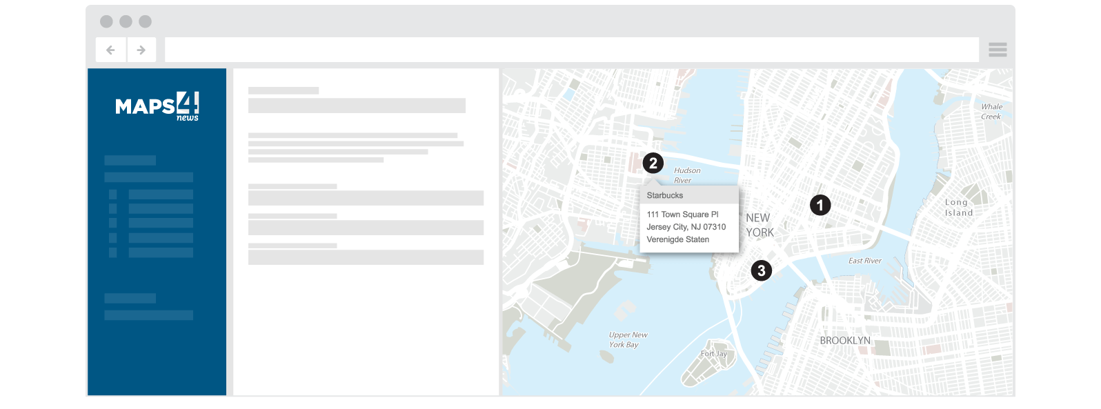Dynamic web maps